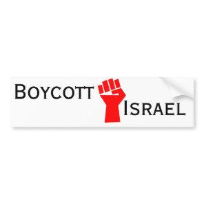 Boycott Israel Bumper Sticker