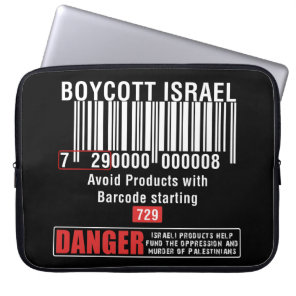 Boycott Israel Goods Avoid Barcode 729 Computer Sleeve