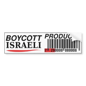 Boycott Israeli Products bumpersticker Bumper Sticker