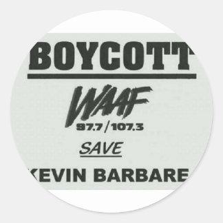 boycott.jpg round sticker