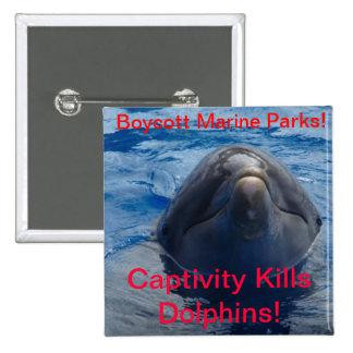 Boycott Marine Parks - Captivity Kills Dolphins! Button