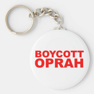 Boycott Oprah Key Chain