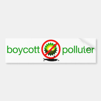 boycott polluter car bumper sticker