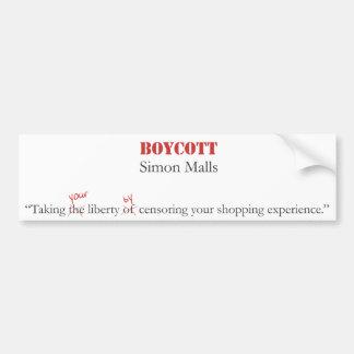 Boycott Simon Malls Bumper Sticker