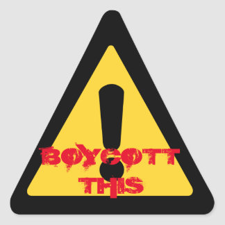 """Boycott This"" Sticker"
