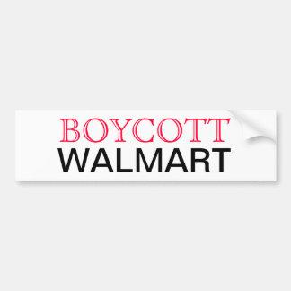 Boycott Walmart Car Bumper Sticker