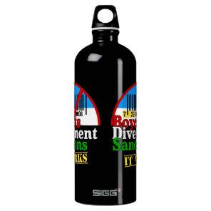 Boycotts Divestment Sanctions Avoid barcode 729 Aluminum Water Bottle