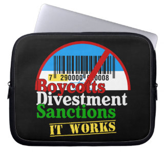 Boycotts Divestment Sanctions Avoid barcode 729 Computer Sleeve