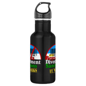 Boycotts Divestment Sanctions Avoid barcode 729 Stainless Steel Water Bottle