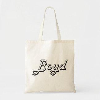 Boyd Classic Retro Name Design Budget Tote Bag