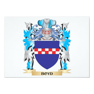"Boyd Coat of Arms 5"" X 7"" Invitation Card"