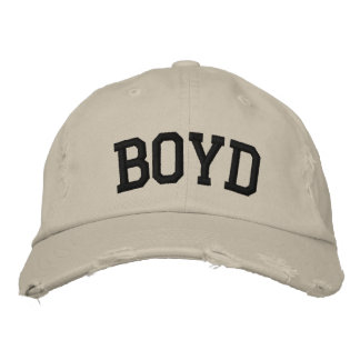 Boyd Embroidered Hat Baseball Cap