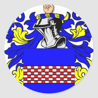 Boyd (English) Coat of Arms Classic Round Sticker