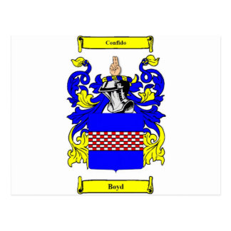 Boyd (English) Coat of Arms Postcard