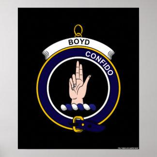 Boyd - escudo del clan impresiones