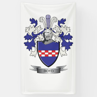 Boyd Family Crest Coat of Arms Banner