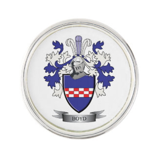 Boyd Family Crest Coat of Arms Lapel Pin