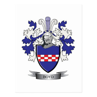 Boyd Family Crest Coat of Arms Postcard