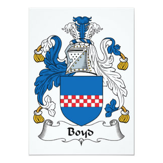 "Boyd Family Crest 5"" X 7"" Invitation Card"