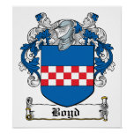 Boyd Family Crest Poster