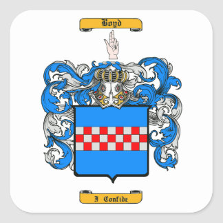Boyd (Irish) Square Sticker