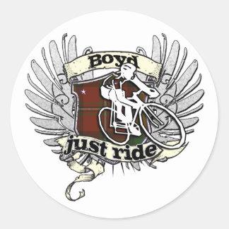 Boyd Just Ride Classic Round Sticker