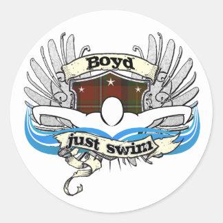 Boyd Just Swim Classic Round Sticker
