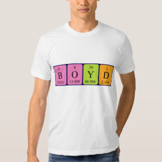 Boyd periodic table name shirt