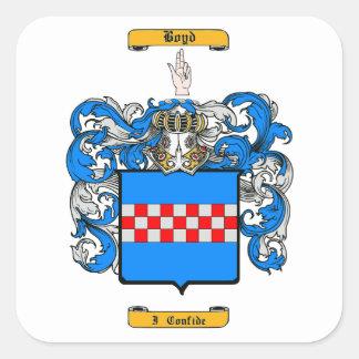 Boyd (Scottish) Square Sticker