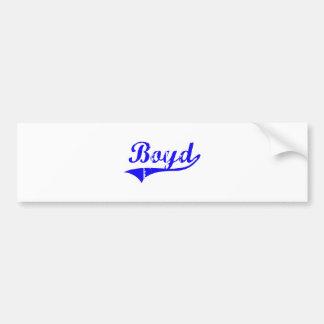Boyd Surname Classic Style Car Bumper Sticker