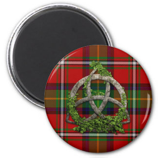Boyd Tartan And Celtic Trinity Knot 2 Inch Round Magnet