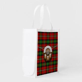 Boyd Tartan And Sporran Reusable Grocery Bag