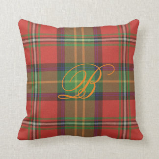 Boyd Tartan Monogram Pillow