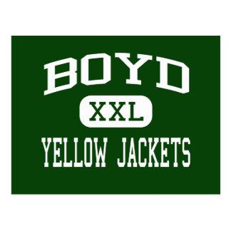 Boyd - Yellow Jackets - High School - Boyd Texas Post Cards
