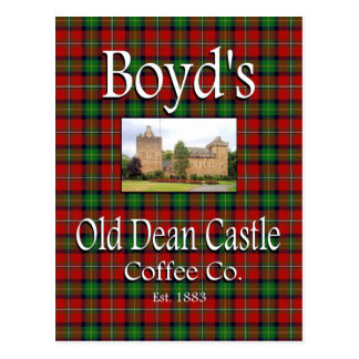 Boyd's Old Dean Castle Coffee Co. Postcard