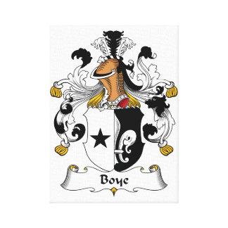 Boye Family Crest Canvas Print