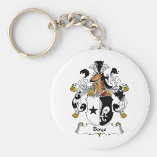 Boye Family Crest Basic Round Button Keychain