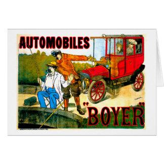 Boyer Automobiles ~ Vintage Car Advertisement Card