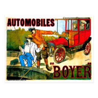 Boyer Automobiles ~ Vintage Car Advertisement Postcard