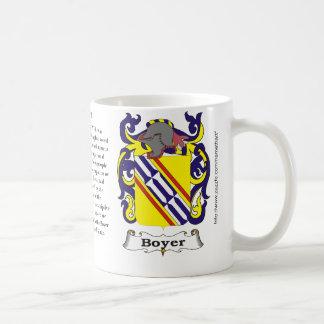 Boyer, el origen, significado y el escudo taza
