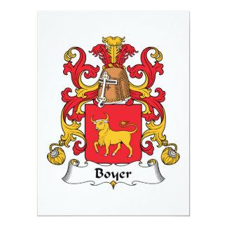 Boyer Family Crest Announcement