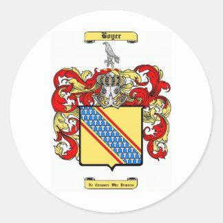 Boyer Pegatina Redonda