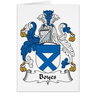 Boyes Family Crest Greeting Card