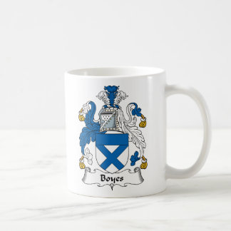 Boyes Family Crest Classic White Coffee Mug