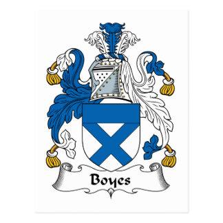 Boyes Family Crest Postcard