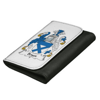 Boyes Family Crest Leather Wallet For Women