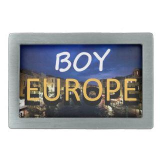 boyeurope hebilla de cinturón rectangular