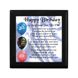 Boyfrien Poem -  Happy Birthday Jewelry Box