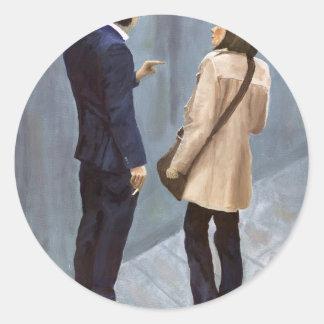 Boyfriend_15M.jpg Classic Round Sticker