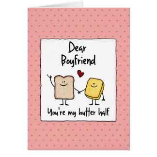 Boyfriend - butter half - Valentine's Day Cards
